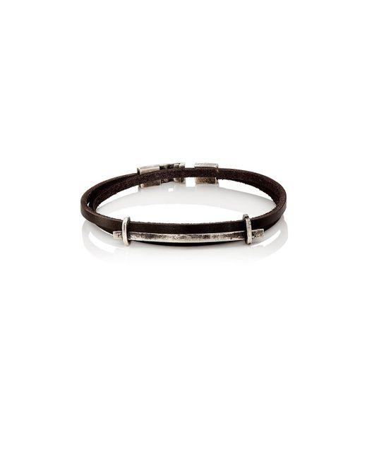 Zadeh - Black Double-wrap Bracelet for Men - Lyst
