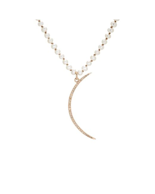 Feathered Soul - Metallic #crescent Pendant Necklace - Lyst