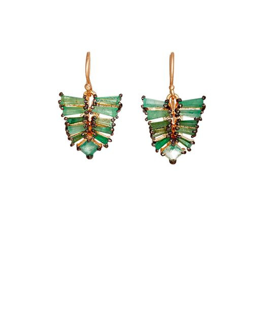 Nak Armstrong | Green Mosaic Leaf Drop Earrings | Lyst