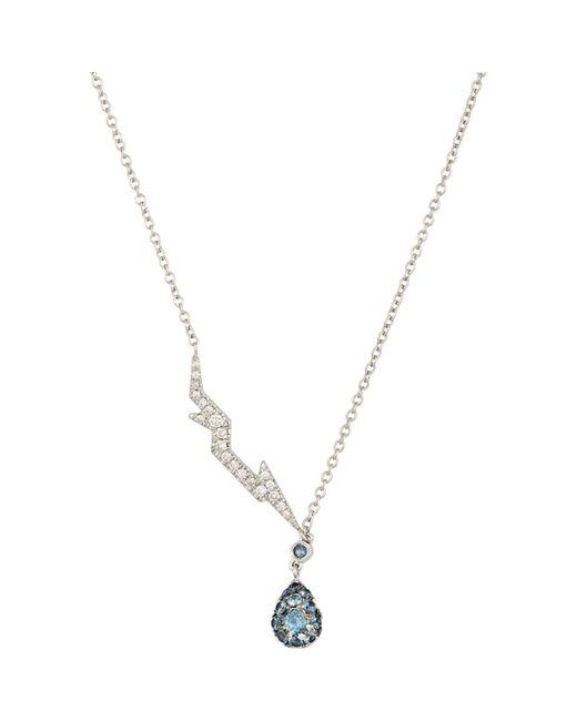 Finn | Metallic Pavé Lightning Bolt & Drop Pendant Necklace | Lyst