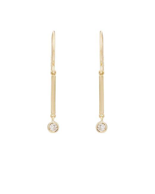 Jennifer Meyer - Yellow Diamond Bezel Mini Stick Drop Earrings - Lyst