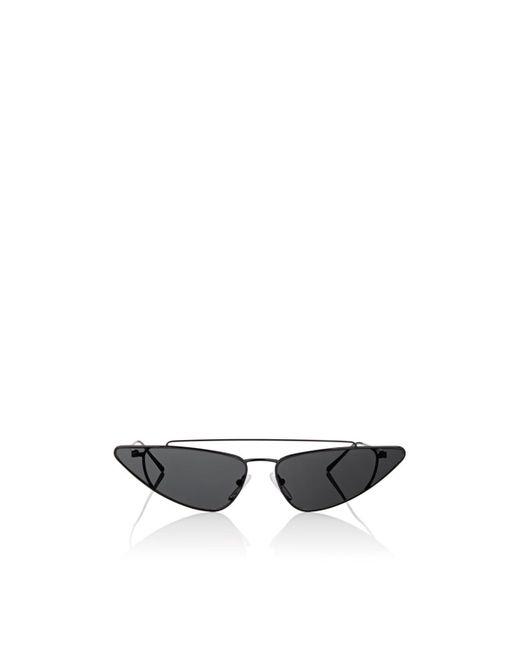 Prada - Black Triangular Cat-eye Sunglasses - Lyst