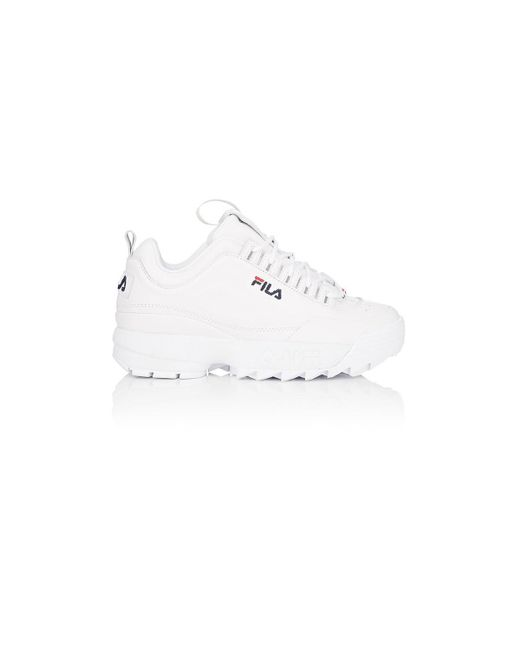 Fila - White Disruptor 2 Lux Leather Sneakers - Lyst