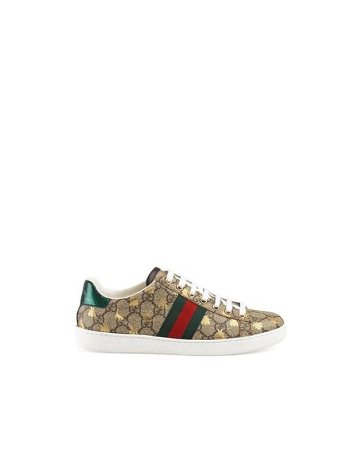 1b16d63227f Gucci - Natural New Ace Canvas Sneakers - Lyst ...