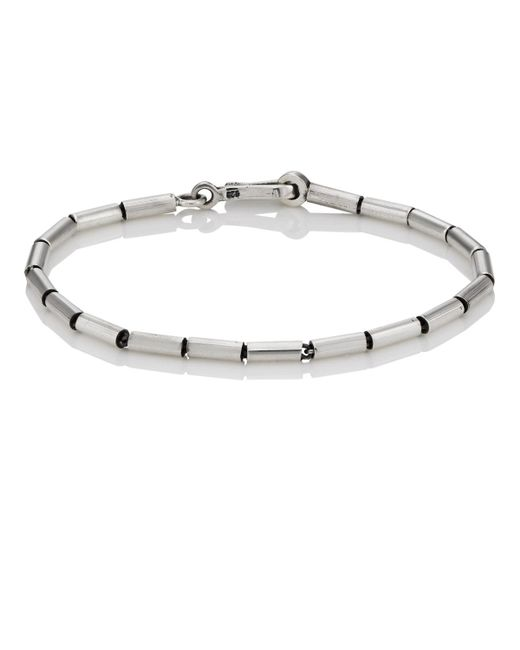 Caputo & Co. - Metallic Sterling Silver Beaded Bracelet for Men - Lyst