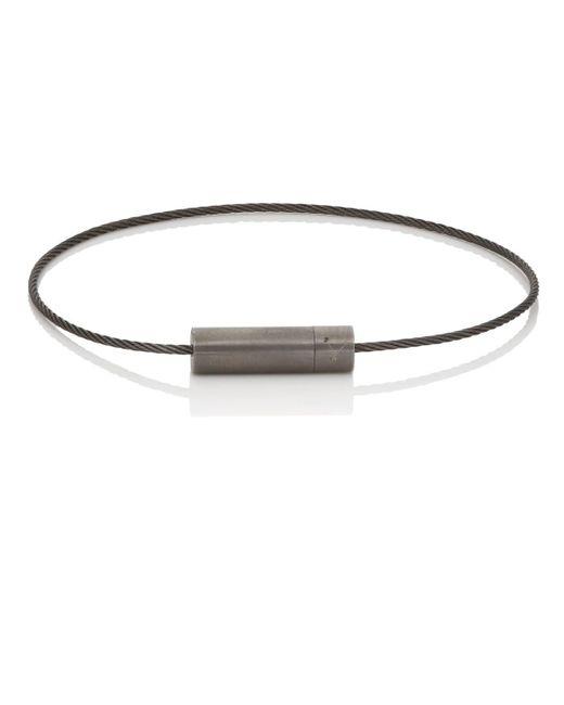 Le Gramme - Black Le 5 Cable Bracelet for Men - Lyst