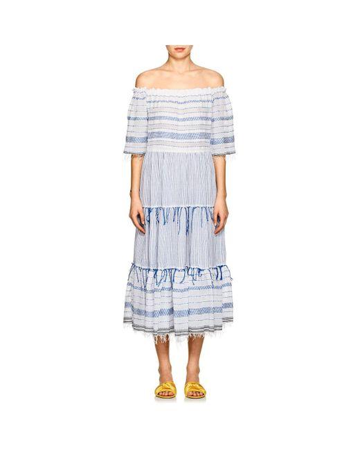 Lemlem - Blue Tiki Striped Cotton Maxi Dress - Lyst