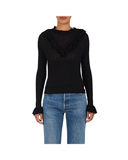 Ulla Johnson - Black Maritza Cotton Sweater - Lyst