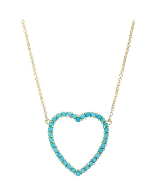 Jennifer Meyer | Blue Cutout Heart Pendant Necklace | Lyst
