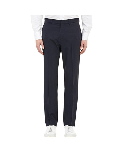 Theory | Blue Marlo Trousers for Men | Lyst