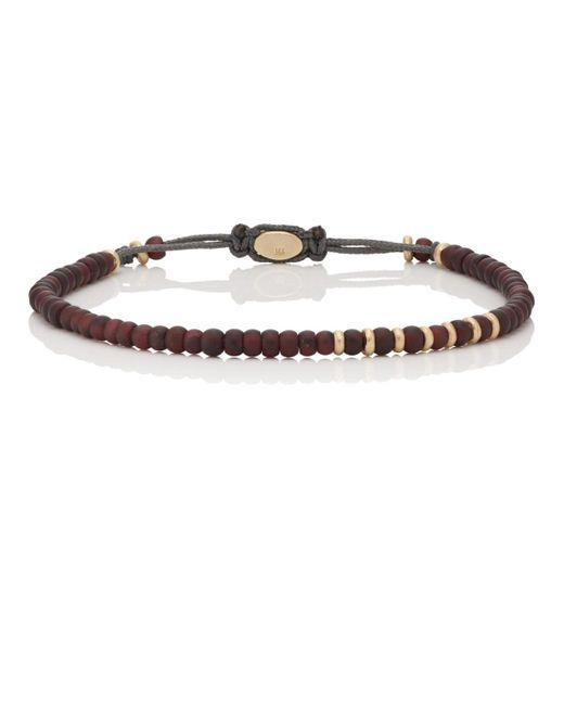 M. Cohen - Brown Garnet & Yellow Gold Beaded Bracelet for Men - Lyst