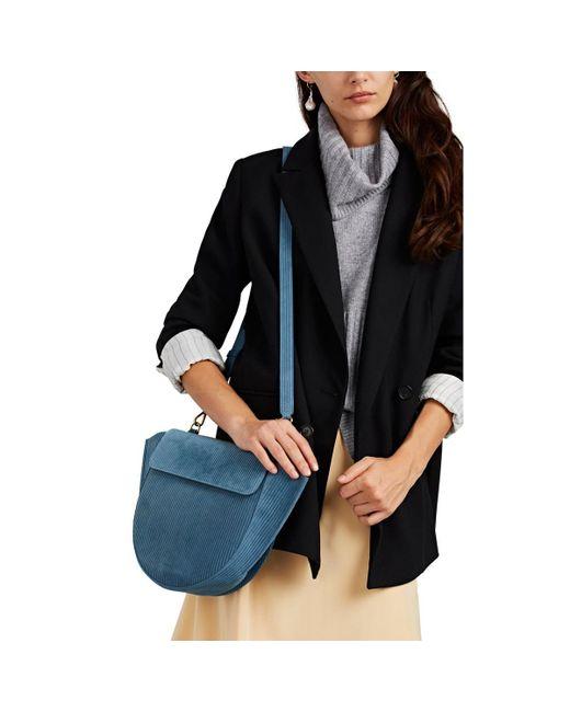 436fbd07fc ... Wandler - Blue Hortensia Medium Suede Shoulder Bag - Lyst