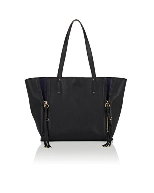 Chloé - Black Milo Medium Leather Tote Bag - Lyst