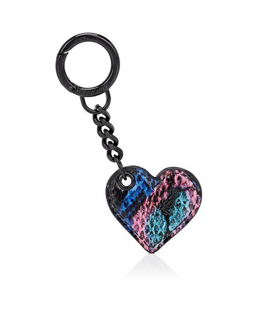 Saint Laurent - Blue Heart Key Chain - Lyst