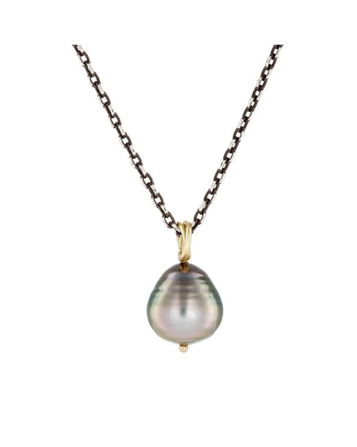 Dean Harris - Gray Baroque Pearl Pendant Necklace for Men - Lyst