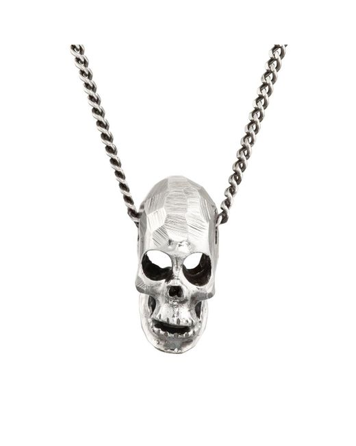 Emanuele Bicocchi | Metallic Skull Pendant Necklace for Men | Lyst