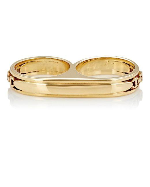 Hoorsenbuhs - Yellow Double Barrel Ring Size 7 - Lyst