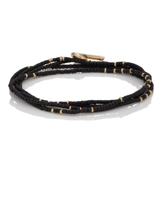 M. Cohen - Black Rondelle-bead Wrap Bracelet for Men - Lyst