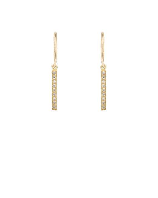 Jennifer Meyer - Metallic Long Bar Drop Earrings - Lyst
