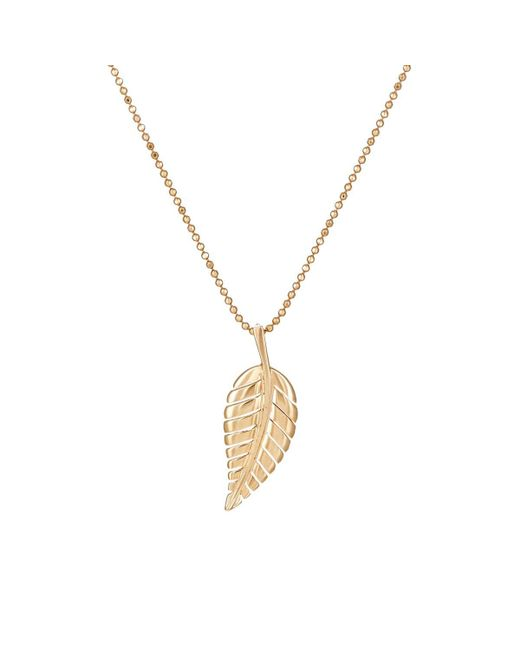Jennifer Meyer - Metallic Leaf Pendant Necklace - Lyst