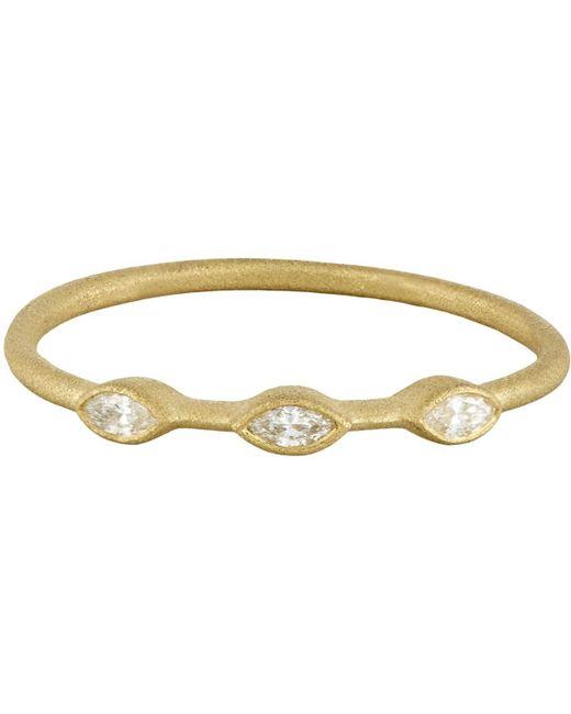 Tate - Metallic Marquise Ring - Lyst