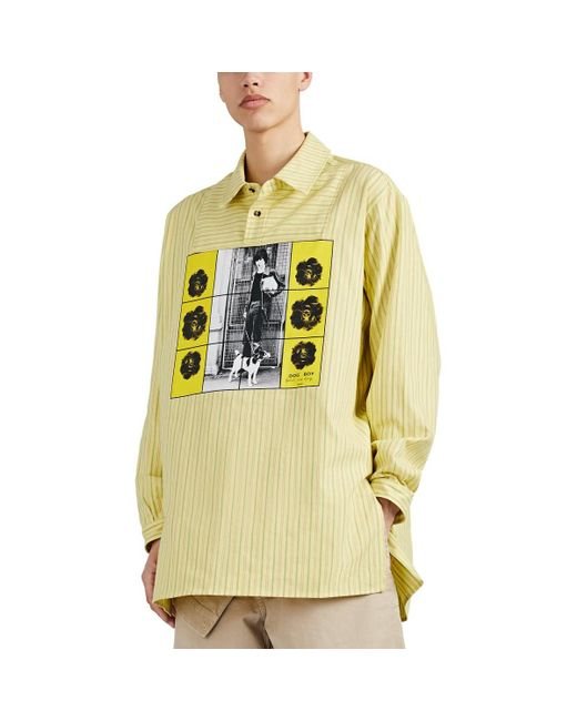 6f3b56a085 J.W. Anderson - Yellow dog Boy Cotton Tunic Shirt for Men - Lyst ...