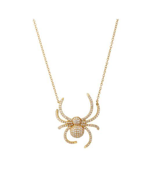 Samira 13 - Metallic Diamond Spider Pendant Necklace - Lyst
