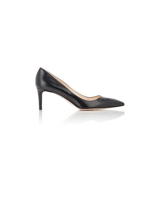 Prada | Black Leather Pointed | Lyst