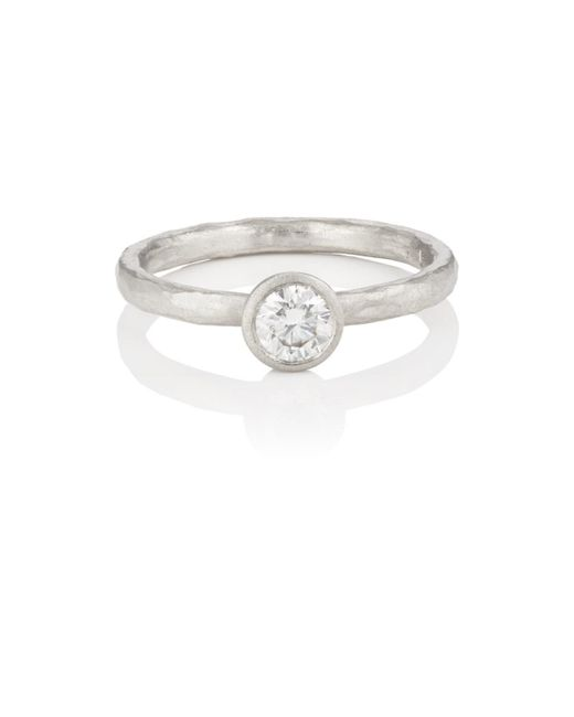Malcolm Betts - Metallic Round White Diamond Ring - Lyst