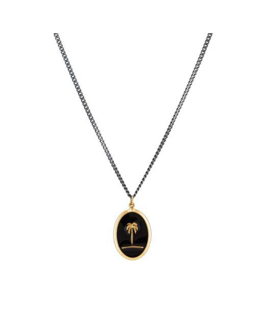 Miansai - Black Palm Tree Pendant Necklace - Lyst