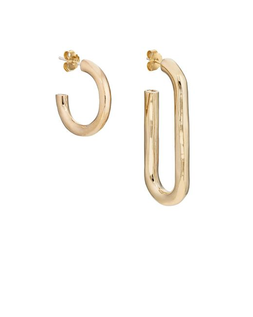 Pamela Love | Metallic Deconstruct Hoop Earrings | Lyst