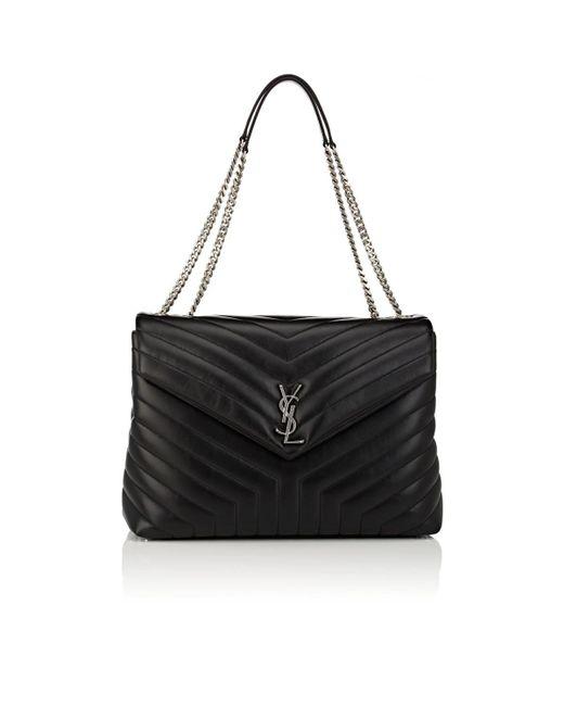 Saint Laurent - Black Monogram Loulou Large Leather Shoulder Bag - Lyst