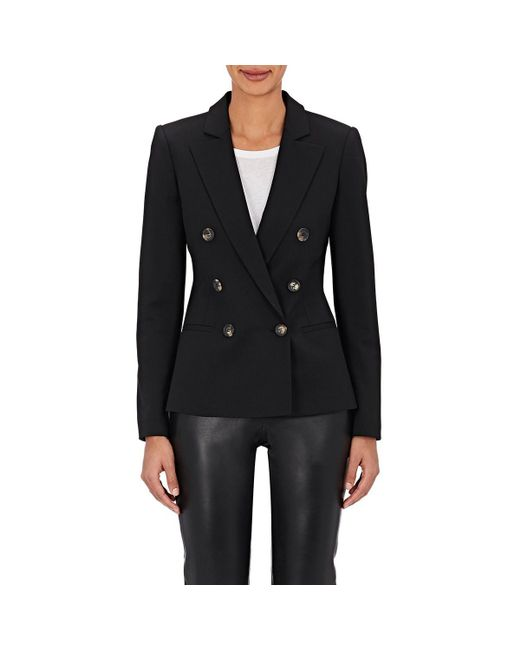 Barneys New York - Black Wool-blend Double-breasted Jacket - Lyst