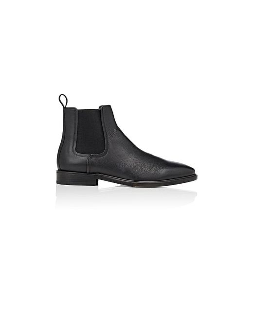 Lanvin - Black Grained Leather Chelsea Boots - Lyst