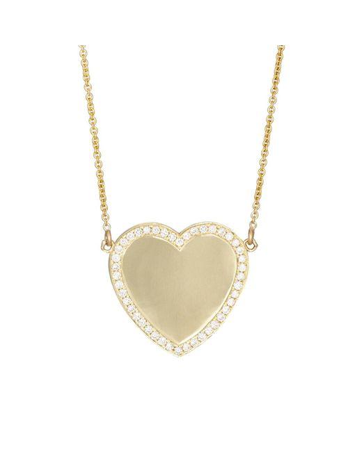 Jennifer Meyer | Metallic White Diamond Heart Pendant Necklace | Lyst