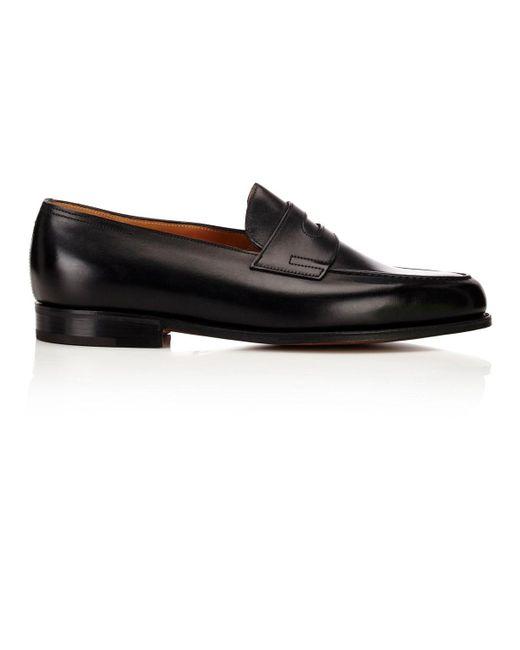 John Lobb - Black Lopez Penny Loafers for Men - Lyst