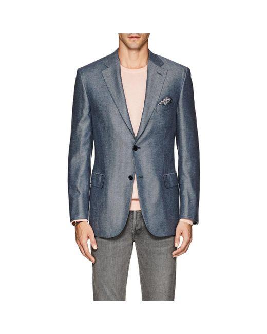 Brioni - Blue Ravello Herringbone Silk-cashmere Two for Men - Lyst