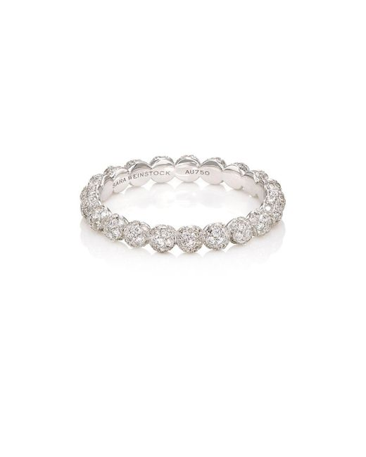 Sara Weinstock | White Diamond & White Gold Beaded Ring | Lyst