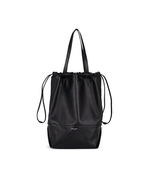 f72638035cb1a Saint Laurent - Black Harlem Leather Shopping Tote Bag - Lyst ...