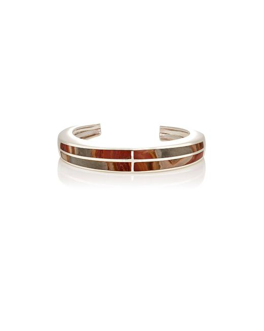 Pamela Love - Metallic Inlay Cross Cuff - Lyst