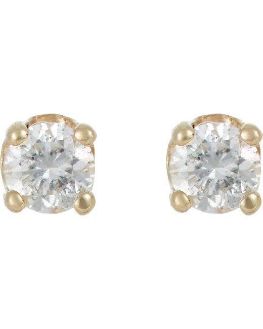 Loren Stewart   Metallic Diamond Stud Earrings   Lyst