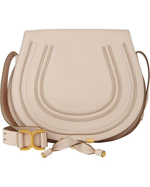 Chloé | White Marcie Crossbody Saddle Bag | Lyst