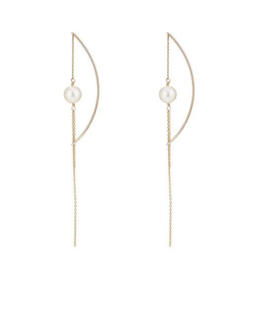 Hirotaka - Metallic Akoya-pearl Chain Earrings - Lyst