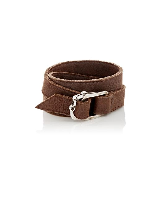 Hoorsenbuhs | Brown Leather Wrap Bracelet | Lyst
