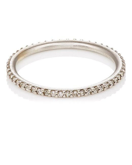 Tate - White Diamond Threadband - Lyst