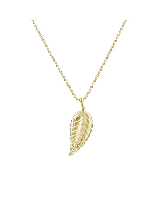 Jennifer Meyer - Metallic Leaf Pendant Necklace - Lyst