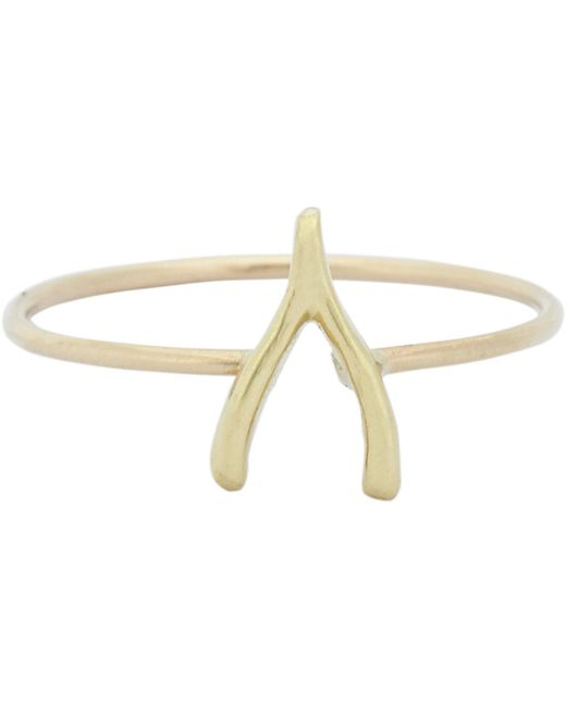 Jennifer Meyer - Metallic Wishbone Ring - Lyst