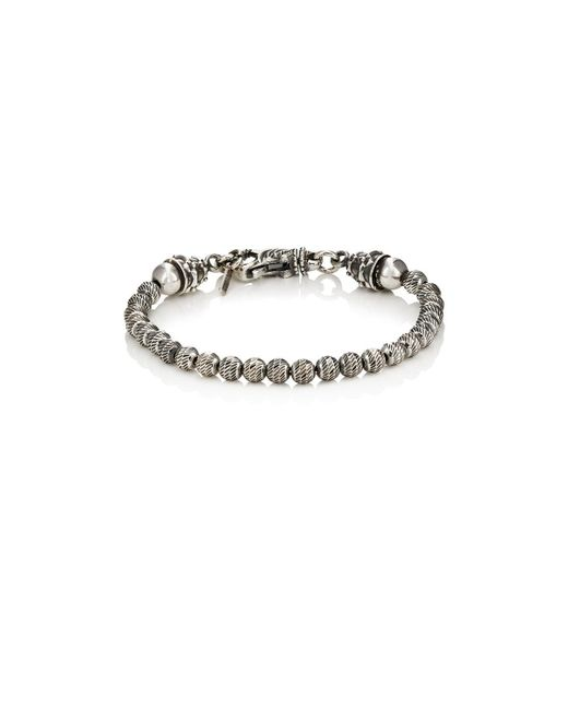 Emanuele Bicocchi - Metallic Sterling Silver Beaded Bracelet - Lyst