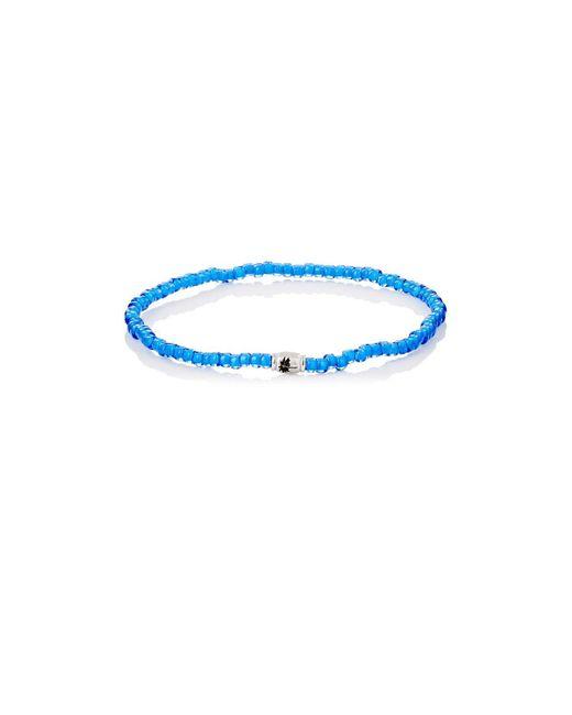Luis Morais - Metallic Palm Tree Etched-bead Bracelet for Men - Lyst