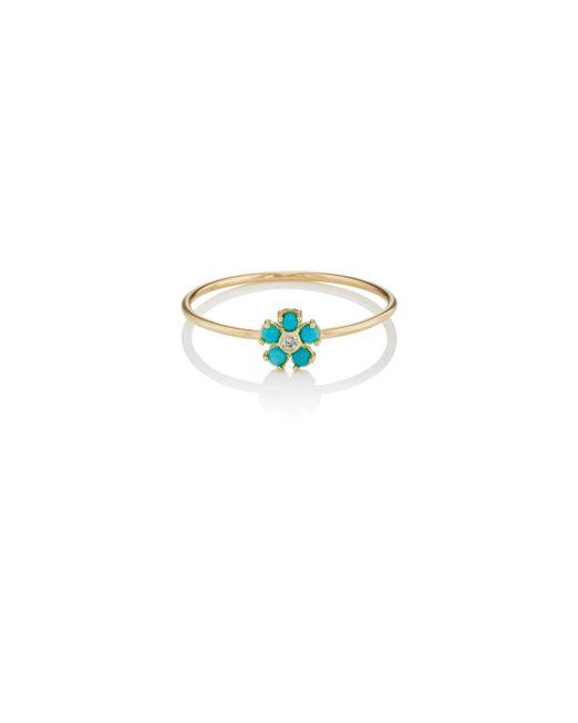 Jennifer Meyer | Multicolor Mini Flower Ring | Lyst